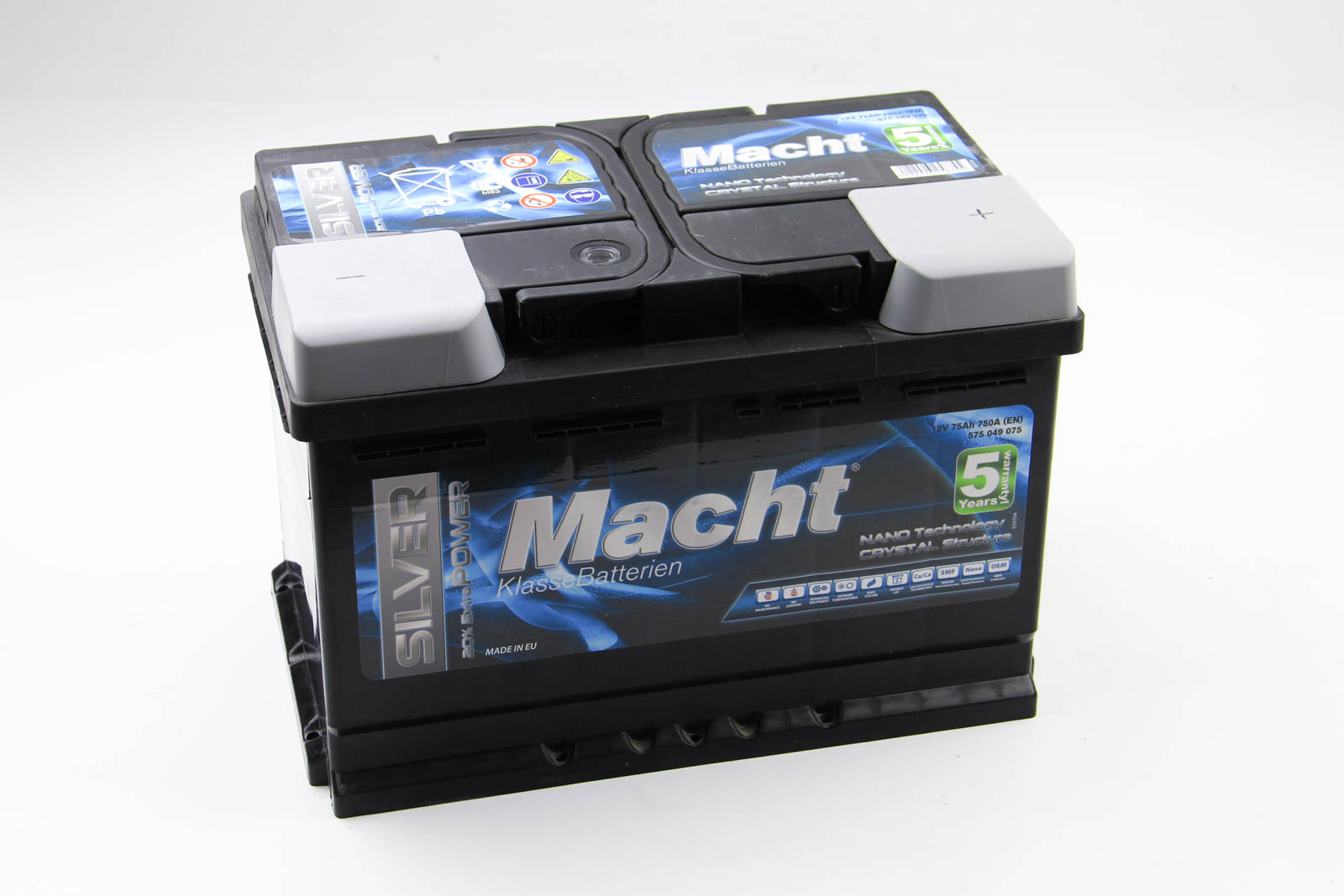 Аккумулятор Macht Silver Power 75Ah/750A 278x175x175