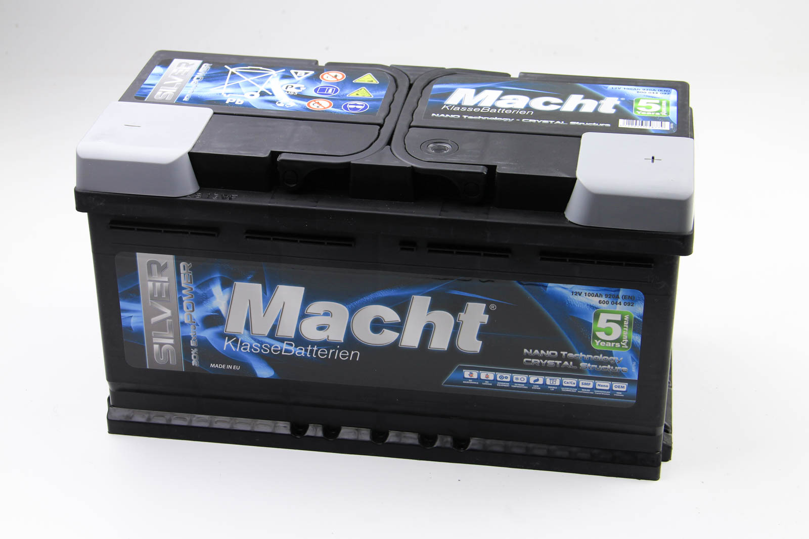 Аккумулятор Macht Silver Power 100Ah/920A 353x175x190